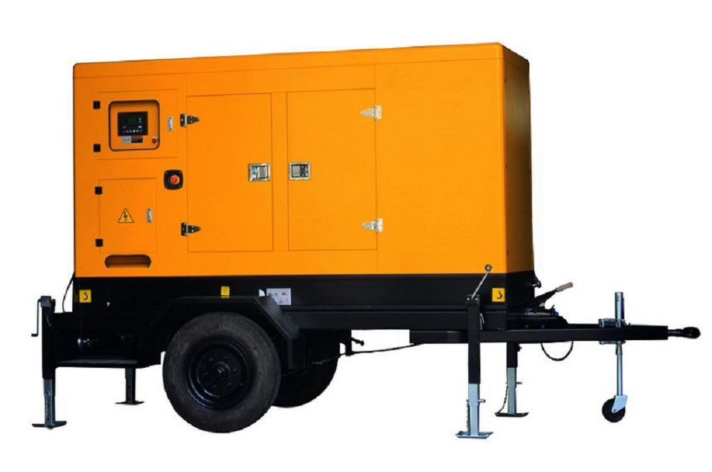 80kva 64kw diesel generator set with movable genset