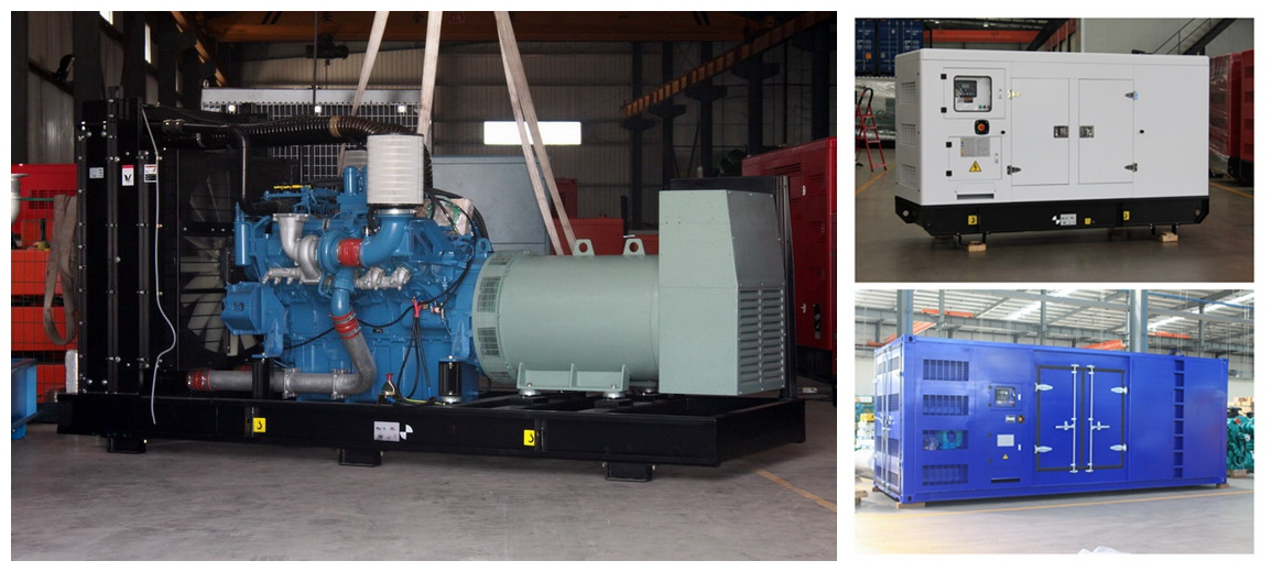 250kva to 1500kva MTU open and silent Diesel Gensets